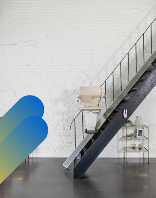 Adapter sa maison - Monte-escalier - La discrétion du rail
