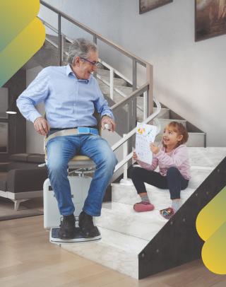 Adapter sa maison - Monte-escalier - Le double-rail