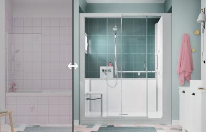 Sécurisez votre salle de bain avec une nouvelle douche senior - Adapter sa maison