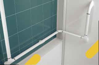 Des nombreuses options pour votre douche sécurisée