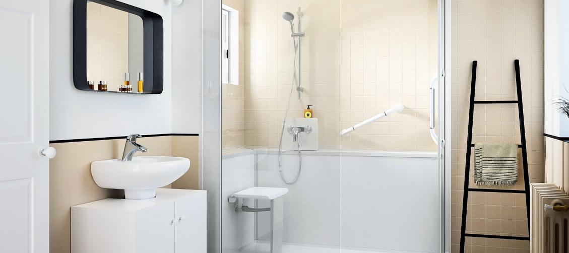 Votre douche sécurisée senior avec Adapter sa maison